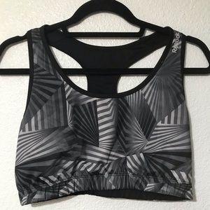 Reebok reversible black and silver sports bra